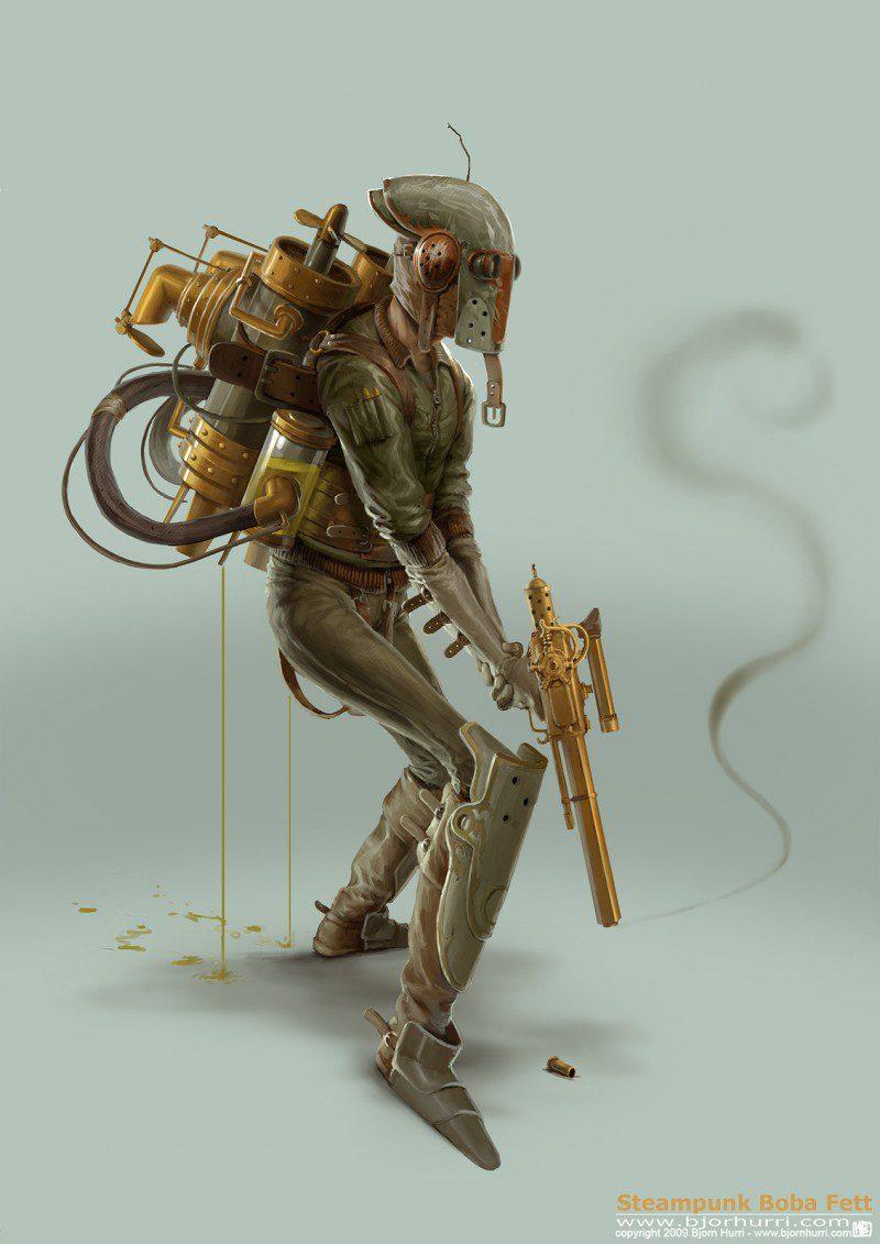 Steampunk Star Wars - Boba Fett