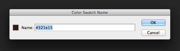 Double click any color to see its HEX value
