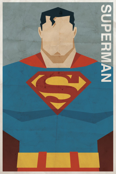 Vintage-style DC Character Poster