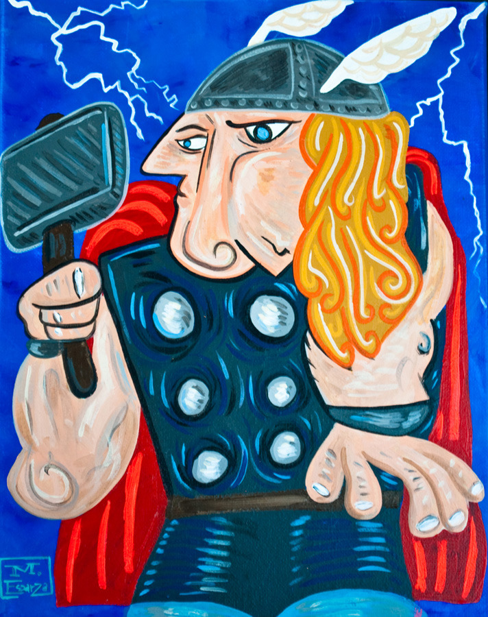 Picasso Inspired Superheroes