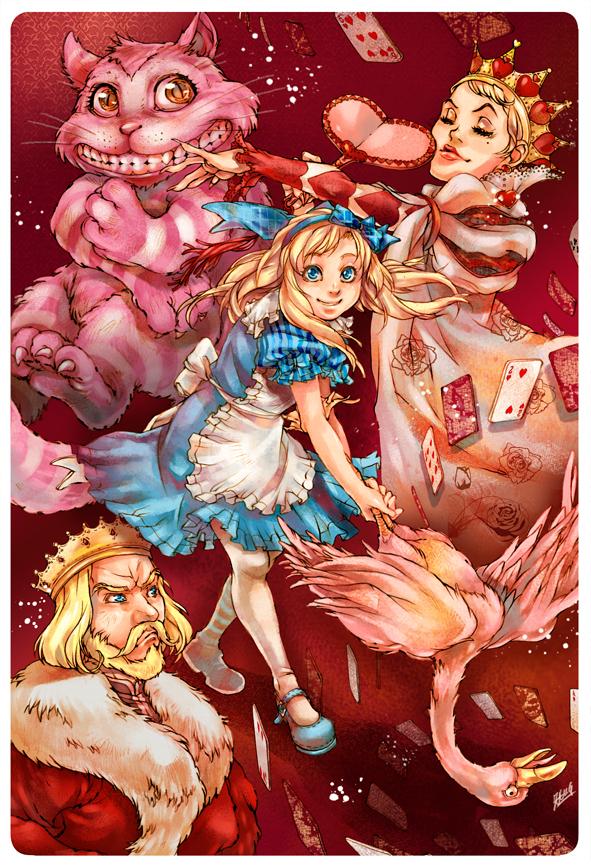 Beautiful Alice in Wonderland Illustration
