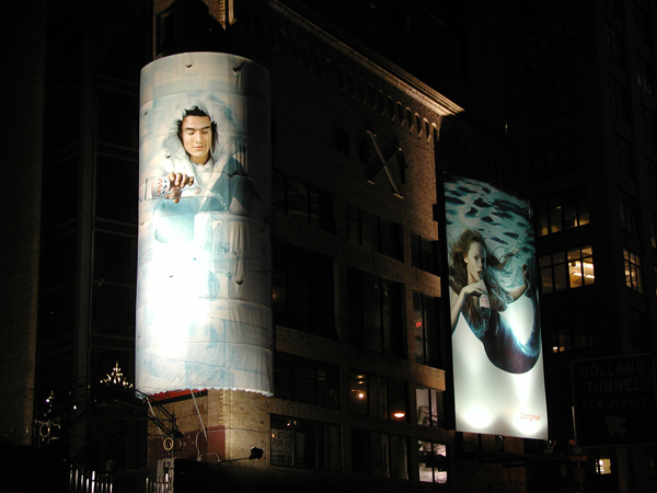 Creative Outdoor Campaign for Evian