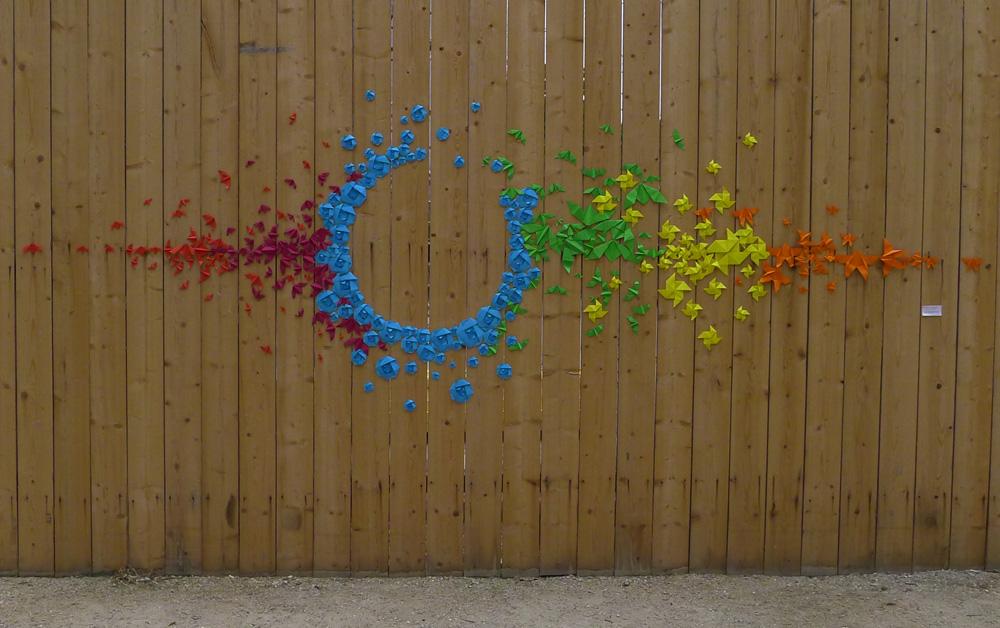 Japanese Origami Street Art