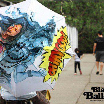 Stylish Hand Painted Umbrellas